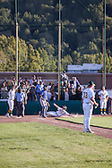 Ryan Schalch scores the final run after Mitchell Ho's game tying double in the bottom of the seventh inning against Acalanes High during the North Coast Section Division 3 final at San Marin High School on June 7, 2011. The  umpires suspended the game after 10 innings with the score 4-4. NCS officials declared both teams Co-champions.