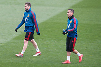 Nacho Fernandez and Lucas Vazquez during Spain training session a few days before soccer match between Spain and Argentina in Madrid , Spain. March 24, 2018. (ALTERPHOTOS/Borja B.Hojas)