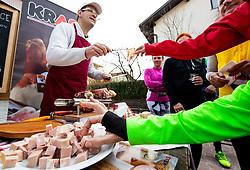 Mortadela, Priprave za Ljubljanski maraton 2019 v sodelovanju s sezanskim Malim kraskim maratonom, on March 9, 2019, in Mostec, Ljubljana, Slovenia. Photo by Vid Ponikvar / Sportida