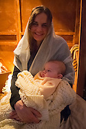 Garden City, New York, USA. December 6, 2013 - A Night in Bethlehem, Lutheran Church of the Resurrection, with Living Nativity.