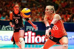 20180531 NED: Volleyball Nations League Netherlands - Brazil, Apeldoorn<br />Marrit Jasper (18) of The Netherlands <br />©2018-FotoHoogendoorn.nl
