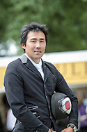Yoshiaki Oiwa after claiming the overall title for Bramham International Horse Trials 2017 at Bramham Park, Bramham, United Kingdom on 11 June 2017. Photo by Mark P Doherty.