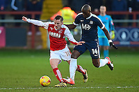 Fleetwood Town's George Glendon vies for possession with Southend United's Marc Antoine Fortune<br /> <br /> Photographer Richard Martin-Roberts/CameraSport<br /> <br /> The EFL Sky Bet League One - Fleetwood Town v Southend United  - Saturday 28th January 2017 - Highbury Stadium - Fleetwood<br /> <br /> World Copyright © 2017 CameraSport. All rights reserved. 43 Linden Ave. Countesthorpe. Leicester. England. LE8 5PG - Tel: +44 (0) 116 277 4147 - admin@camerasport.com - www.camerasport.com