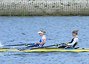 Reading. United Kingdom.  GBR W2-. Caragh MCMURTY and Zoe LEE, in the opening strokes of the morning time trial. 2014 Senior GB Rowing Trails, Redgrave and Pinsent Rowing Lake. Caversham.<br /> <br /> 10:43:53  Saturday  19/04/2014<br /> <br />  [Mandatory Credit: Peter Spurrier/Intersport<br /> Images]