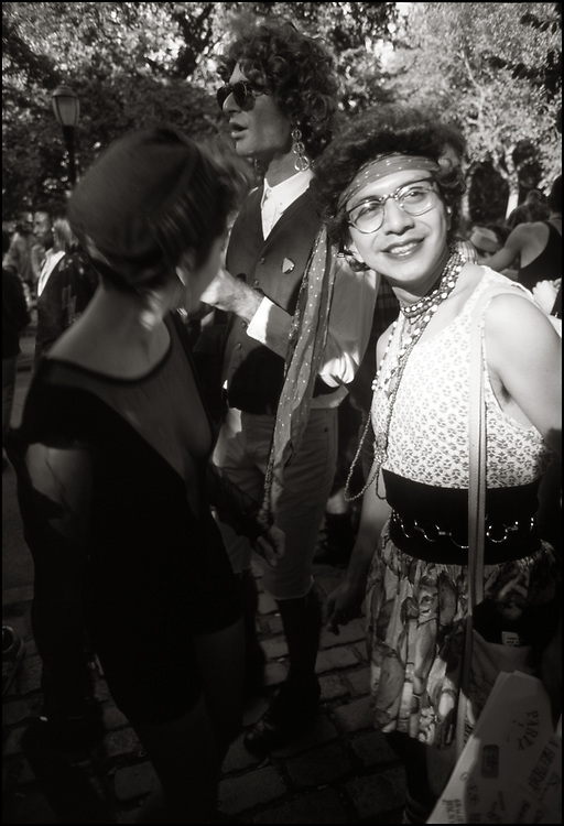 Robert Garcia & Karen Ramspacher at Wigstock, an annual outdoor drag festival that began in the 1980s in Tompkins Square Park in the East Village of New York City that took place on Labor Day.