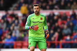 March 9, 2019 - Nottingham, England, United Kingdom - David Marshall (1) of Hull City during the Sky Bet Championship match between Nottingham Forest and Hull City at the City Ground, Nottingham on Saturday 9th March 2019. (Credit Image: © Jon Hobley/NurPhoto via ZUMA Press)