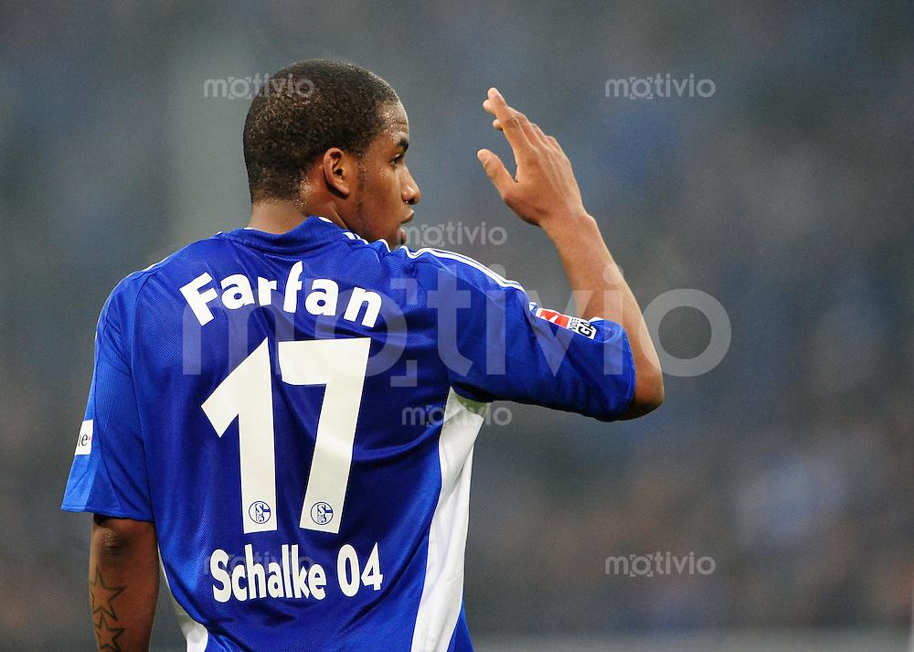 FUSSBALL   1. BUNDESLIGA   SAISON 2008/2009   16. SPIELTAG FC Schalke 04 - Hertha BSC Berlin                           06.12.2008 Jefferson FARFAN (FC Schalke 04)
