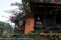 Morning at the Famous Farmhouse on day-10 of our Himalayan Heroes adventure  riding from Nuwakot back to Kathmandu, Nepal. Thursday, November 15, 2018. Photography ©2018 Michael Lichter.