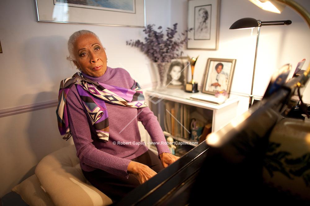 Singer Barbara Smith Conrad in her Manhattan residence...Photo by Robert Caplin