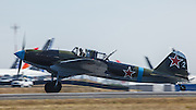 IL2M3 Sturmovik of the Flying Heritage Collection on takeoff run.