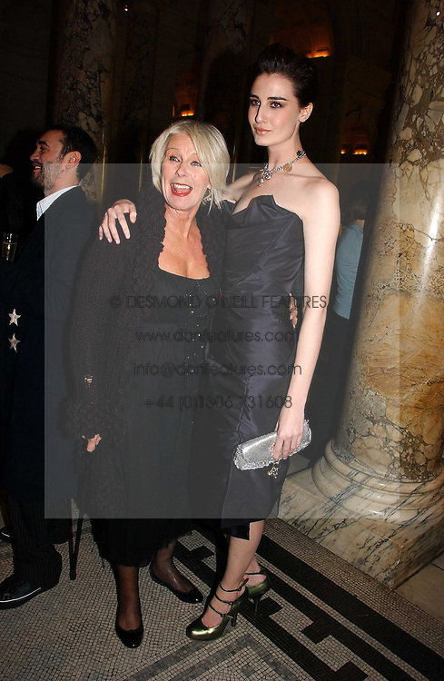 Left to right, BETTY JACKSON and ERIN O'CONNOR at the British Fashion Awards 2006 sponsored by Swarovski held at the V&A Museum, Cromwell Road, London SW7 on 2nd November 2006.<br /><br />NON EXCLUSIVE - WORLD RIGHTS