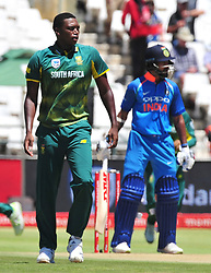 Cape Town-180207 South African cricket fast bowler Lungi NGIDI playing his first ODI game for Proteas at Newlands.photograph:Phando Jikelo/African News Agency(ANA)