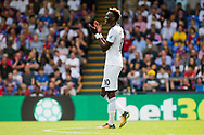Tammy Abraham of Swansea city looks on. <br /> Premier League match, Crystal Palace v Swansea city at Selhurst Park in London on Saturday 26th August 2017.<br /> pic by Kieran Clarke, Andrew Orchard sports photography.