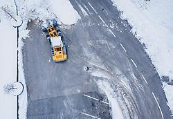 THEMENBILD - ein Bagger räumt Schnee von einem Parkplatz am 17. November 2019 in Lienz. Die extremen Schneefälle der vergangenen Tage sorgen in Teilen Österreichs für massive Gefahren und Behinderungen // an excavator clears snow from a parking lot. The extreme snowfalls of the past few days cause massive dangers and disabilities in parts of Austria, Lienz on 19/11/17. EXPA Pictures © 2019, PhotoCredit: EXPA/ JFK