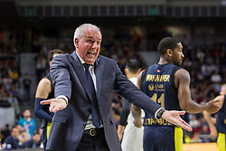 March 2, 2018 - Madrid, Madrid, Spain - Zeljko Obradovic during Fenerbahce Dogus Istanbul victory over Real Madrid (83 - 86) in Turkish Airlines Euroleague regular season game (round 24) celebrated at Wizink Center in Madrid (Spain). March 2nd 2018. (Credit Image: © Juan Carlos Garcia Mate/Pacific Press via ZUMA Wire)