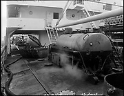 """Ackroyd 18744-01. """"Harper shipping. Cleaning tanks. S. S. Pleioni. March 9, 1974"""" (on Swan Island)"""