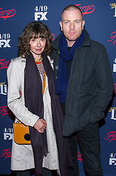 """NEW YORK, NY - APRIL 6: Eve Mavrakis and Ewan McGregor attends """"FX's 2017 All-Star Upfront Red Carpet Event"""" at the SVA Theater on April 6, 2017 in New York City. (Photo by Stephen Smith/FX/PictureGroup) *** Please Use Credit from Credit Field ***"""