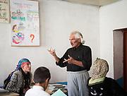Physic teacher Bandali. At the school. In Roshorv village.