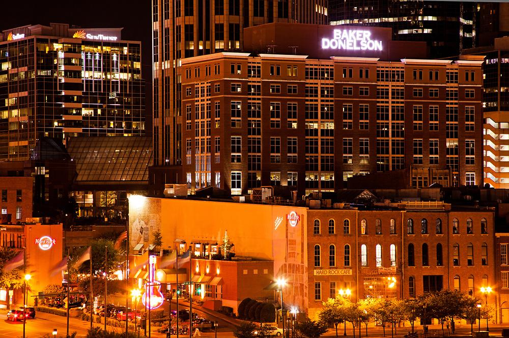 Nashville downtown at night