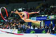 Giulia Di Luca  atleta della società San Giorgio Desio durante la seconda prova del Campionato Italiano di Ginnastica Ritmica.<br /> La gara si è svolta a Desio il 31 ottobre 2015.