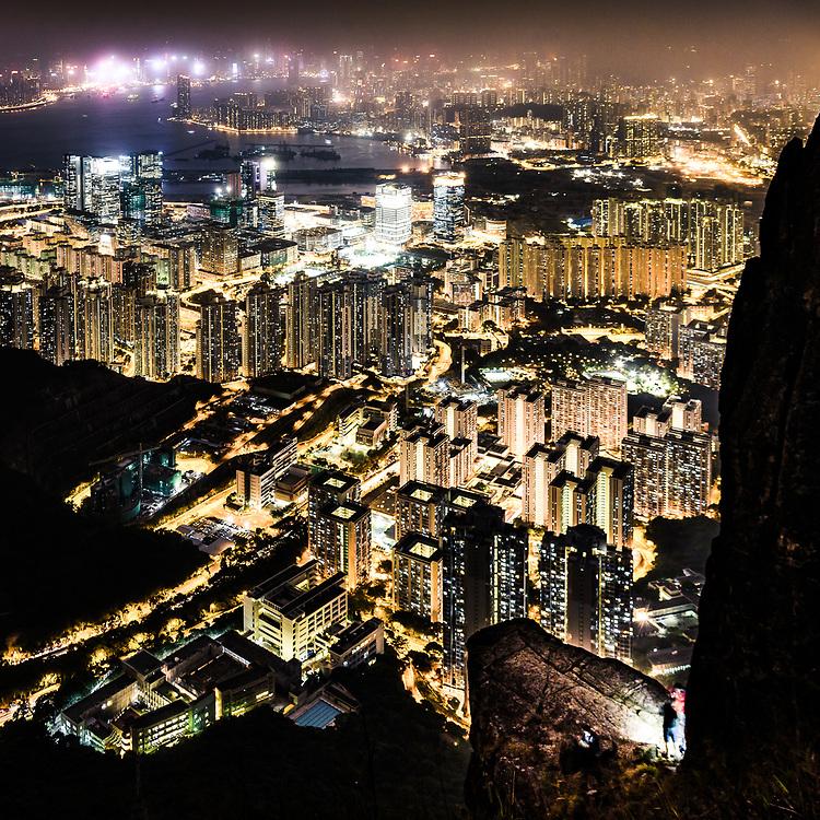 Suicide cliff at Kowloon Peak, Hong Kong