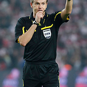 Referee's Pavel KRALOVEC during their UEFA EURO 2012 Qualifying round Group A soccer match Turkey betwen Austria at Sukru Saracoglu stadium in Istanbul March 29, 2011. Photo by TURKPIX
