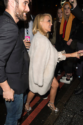 © Licensed to London News Pictures. 17/02/2016. KYLIE MINOGUE arrives at the NME Awards 2016 with Austin, Texas.  Previous winners of NME's Godlike Genius Award include Suede, Blondie, The Clash, Paul Weller, The Cure, Manic Street Preachers, New Order & Joy Division, Dave Grohl, Noel Gallagher and Johnny Marr.  London, UK. Photo credit: Ray Tang/LNP