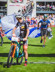 08.09.2018, Lienz, AUT, 31. Red Bull Dolomitenmann 2018, im Bild Jakob Herrmann (AUT, Kolland Topsport International), Samuele Porro (ITA, Kolland Topsport International) // Jakob Herrmann (AUT, Kolland Topsport International), Samuele Porro (ITA, Kolland Topsport International) during the 31th Red Bull Dolomitenmann. Lienz, Austria on 2018/09/08, EXPA Pictures © 2018, PhotoCredit: EXPA/ Stefanie Oberhauser