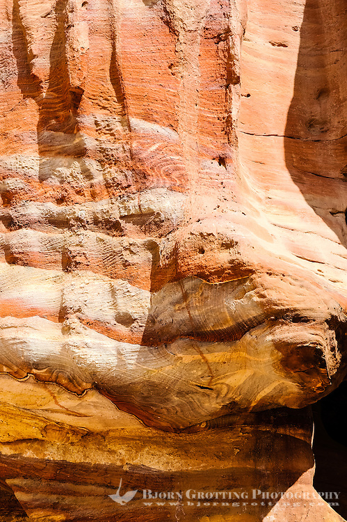 Petra is Jordan's most visited tourist attraction. Rose-red sandstone.
