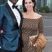 NLD/Amsterdam/20190525 - AmsterdamDiner 2019, Annemarie van Gaal en partner Rhandy Macnack