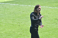 Football - 2020 / 2021 Sky Bet Championship - Swansea City vs Wycombe Wanderers - Liberty Stadium<br /> <br /> Gareth Ainsworth Wycombe Wanderers manager looks animated on the touchline<br /> <br /> COLORSPORT/WINSTON BYNORTH