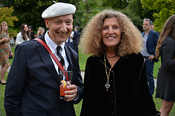 Stephen Jones and Nicole Farhi at the Dulwich Picture Gallery's inaugural Summer Party, Dulwich Picture Gallery, College Road, London England. 13 June 2017.