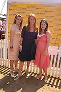 Princess Beatrice,  the The Duchess of York and Princess Eugenie. Veuve Clicquot Gold Cup Final at Cowdray Park. Midhurst. 17 July 2005. ONE TIME USE ONLY - DO NOT ARCHIVE  © Copyright Photograph by Dafydd Jones 66 Stockwell Park Rd. London SW9 0DA Tel 020 7733 0108 www.dafjones.com