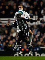 Photo: Jed Wee/Sportsbeat Images.<br /> Newcastle United v Tottenham Hotspur. The FA Barclays Premiership. 22/10/2007.<br /> <br /> Newcastle's Obafemi Martins (9) beats Tottenham's Mihael Dawson to the ball.