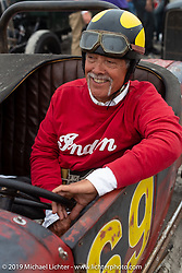 Jerry Chinn of Seattle, WA in his hotrod at TROG (The Race Of Gentlemen). Wildwood, NJ. USA. Saturday June 9, 2018. Photography ©2018 Michael Lichter.