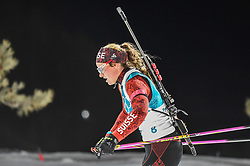 February 12, 2018 - Pyeongchang, Gangwon, South Korea - Irene Cadurisch ofSwitzerland  competing at Women's 10km Pursuit, Biathlon, at olympics at Alpensia biathlon stadium, Pyeongchang, South Korea. on February 12, 2018. (Credit Image: © Ulrik Pedersen/NurPhoto via ZUMA Press)