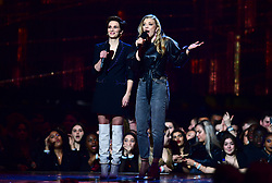 Vicky McClure and Natalie Dormer on stage at the Brit Awards 2019 at the O2 Arena, London. PRESS ASSOCIATION PHOTO. Picture date: Wednesday February 20, 2019. See PA story SHOWBIZ Brits. Photo credit should read: Victoria Jones/PA Wire. EDITORIAL USE ONLY.