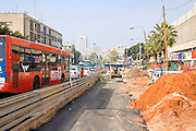 Israel Tel Aviv, Road works and infrastructure replacement in Ibn Gvirol street