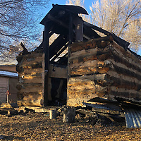 This well house/shed used to store beans was destroyed by a fire in Ramah. Firefighters put out the fire Tuesday morning and believe it was caused by electrical wiring that might have been chewed by mice.