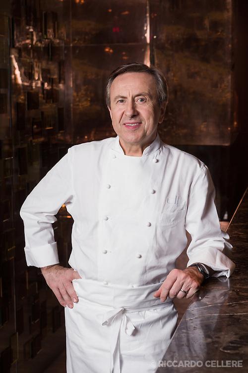 Portrait photography. Chef Daniel Boulud, Maison Boulud, Montreal. 2015.