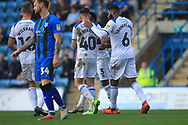 GOAL Ian Henderson is congratulated after scoring 0-1 during the EFL Sky Bet League 1 match between Gillingham and Rochdale at the MEMS Priestfield Stadium, Gillingham, England on 30 March 2019.