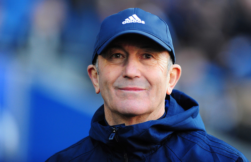 Middlesbrough manager Tony Pulis <br /> <br /> Photographer Ashley Crowden/CameraSport<br /> <br /> The EFL Sky Bet Championship - Cardiff City v Middlesbrough - Saturday 17th February 2018 - Cardiff City Stadium - Cardiff<br /> <br /> World Copyright © 2018 CameraSport. All rights reserved. 43 Linden Ave. Countesthorpe. Leicester. England. LE8 5PG - Tel: +44 (0) 116 277 4147 - admin@camerasport.com - www.camerasport.com