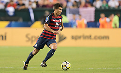 July 19, 2017 - Philadelphia, PA, USA - Philadelphia, PA - Wednesday July 19, 2017: Eric Lichaj during a 2017 Gold Cup match between the men's national teams of the United States (USA) and El Salvador (SLV) at Lincoln Financial Field. (Credit Image: © John Dorton/ISIPhotos via ZUMA Wire)