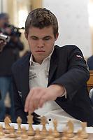 Zuerich, 30.01.2014, Zurich Chess Challenge 2014, Magnus Carlsen (Worl Champion and Grand Master Norway). (Gonzalo Garcia/EQ Images)
