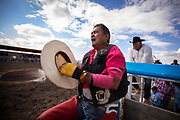 during the Indian Rodeo at Brocket, Alberta, August 5, 2017. Todd Korol/The Globe and Mail