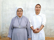Sister Louise Claire and Sister Martina Khine at St Anns Home, Sisters of Charity in Le Wo ethnic Kayan village, Kayah State, Myanmar on 13th November 2016