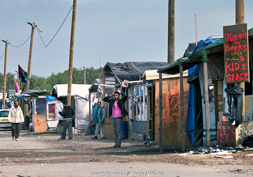 Shops have been opened and run by the refugees and Migrants living in the Calais Jungle Camp in Northern France