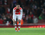 Arsenal's Kieran Gibbs looks on dejected at the final whistle<br /> <br /> Barclays Premier League- Arsenal vs Manchester United - Emirates Stadium - England - 22nd November 2014 - Picture David Klein/Sportimage