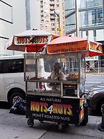 A Nuts4Nuts street vendor near Columbus Circle in New York City.
