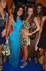 Left to right, DANIELLA HELAYEL and CAMILLA AL FAYED at a fashion show by ISSA held at Cocoon, 65 Regent Street, London on 21st September 2005.<br />